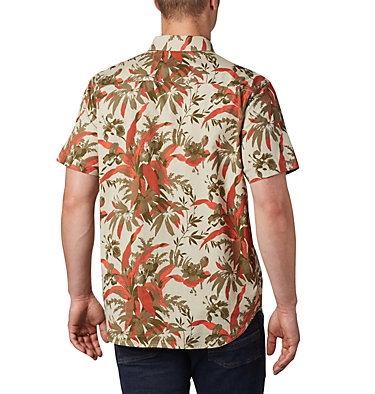 Men's Rapid Rivers™ Printed Short Sleeve Shirt Rapid Rivers™ Printed Short Sleeve Shirt | 161 | L, Fossil Magnolia Floral Print, back