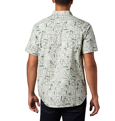 Men's Rapid Rivers™ Printed Short Sleeve Shirt Rapid Rivers™ Printed Short Sleeve Shirt | 161 | L, Pixel Camp Supplies Print, back