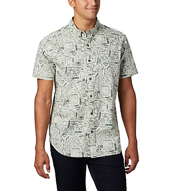 Men's Rapid Rivers™ Printed Short Sleeve Shirt Rapid Rivers™ Printed Short Sleeve Shirt | 161 | L, Pixel Camp Supplies Print, front