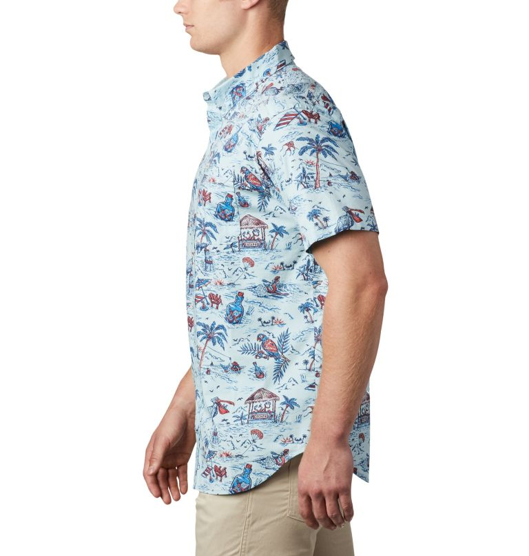 Rapid Rivers™ Printed Short Sleeve Shirt   428   L Men's Rapid Rivers™ Printed Short Sleeve Shirt, Sky Blue Lost in Paradise Print, a2
