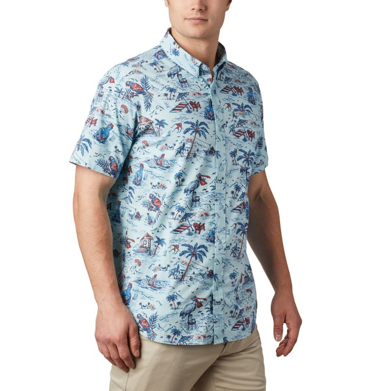 Rapid Rivers™ Printed Short Sleeve Shirt   428   L Men's Rapid Rivers™ Printed Short Sleeve Shirt, Sky Blue Lost in Paradise Print, a3
