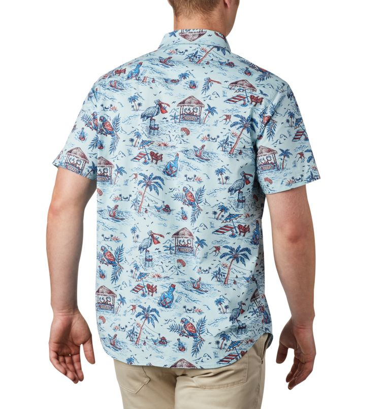 Rapid Rivers™ Printed Short Sleeve Shirt | 428 | S Men's Rapid Rivers™ Printed Short Sleeve Shirt, Sky Blue Lost in Paradise Print, back