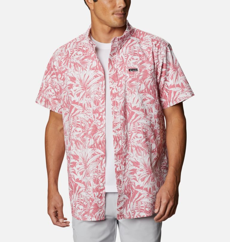Rapid Rivers™ Printed Short Sleeve Shirt | 661 | L Men's Rapid Rivers™ Printed Short Sleeve Shirt, Rosette Toucanical, front