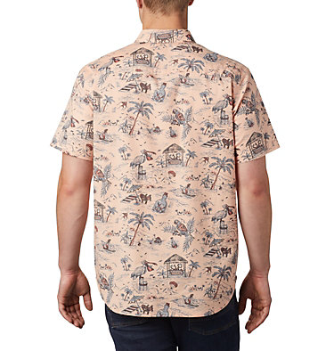 Men's Rapid Rivers™ Printed Short Sleeve Shirt Rapid Rivers™ Printed Short Sleeve Shirt | 161 | L, Light Coral Lost in Paradise Print, back
