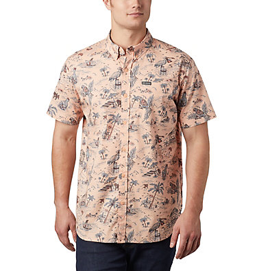 Men's Rapid Rivers™ Printed Short Sleeve Shirt Rapid Rivers™ Printed Short Sleeve Shirt | 161 | L, Light Coral Lost in Paradise Print, front