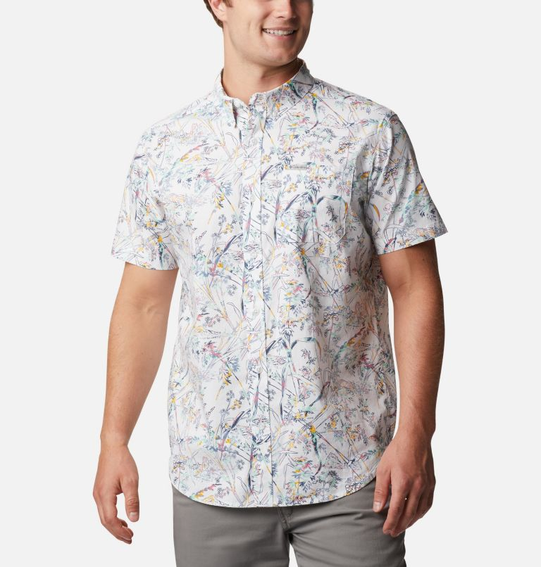 Rapid Rivers™ Printed Short Sleeve Shirt | 104 | 1X Men's Rapid Rivers™ Printed Short Sleeve Shirt – Big, White Oregon Wonders, front