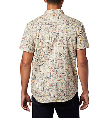 Chemise à manches courtes imprimée Rapid Rivers™ pour homme – Tailles fortes Rapid Rivers™ Printed Short Sleeve Shirt | 102 | 1X, Fossil Camp Supplies Print, back