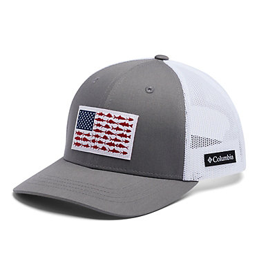 Youth Columbia™ Snap Back Cap Columbia Youth™ Snap Back Hat | 029 | O/S, Titanium, Fish Flag, front