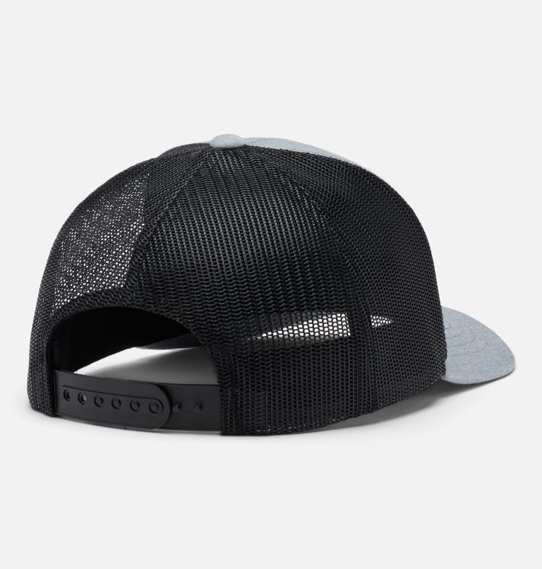 Columbia™ Youth Snap Back | 030 | O/S Youth Columbia™ Snap Back Cap, Charcoal Heather Circle Patch, back