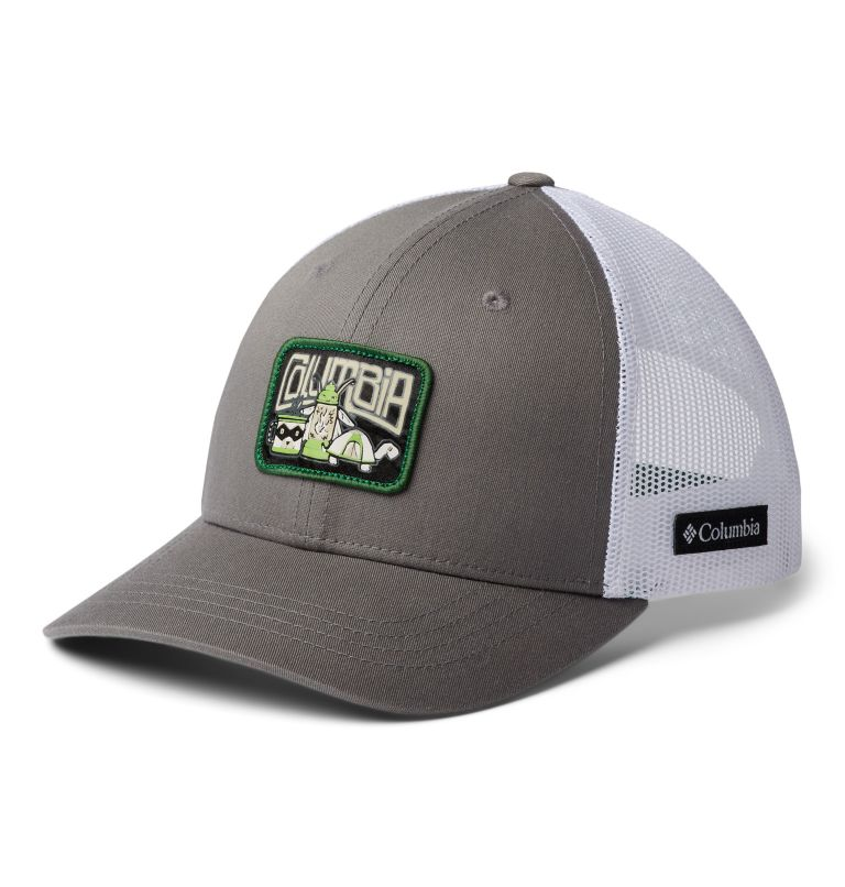 Columbia Youth™ Snap Back Hat | 049 | O/S Casquette Snapback Junior, Titanium, White, True Green, Camp Creatures, front