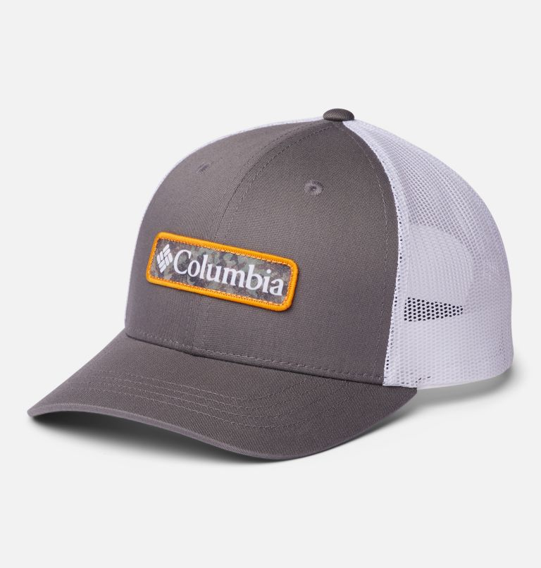 Columbia Youth™ Snap Back Hat | 050 | O/S Youth Columbia™ Snap Back Cap, Titanium, White, Camo Columbia, front