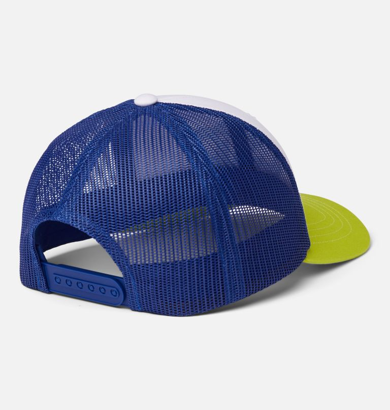Columbia Youth™ Snap Back Hat | 101 | O/S Youth Columbia™ Snap Back Cap, White, Lapis Blue, CSC Patch, back