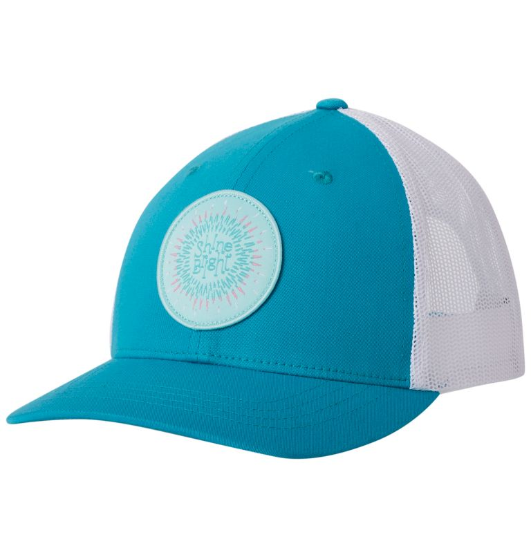 Columbia Youth™ Snap Back Hat   336   O/S Youth Columbia™ Snap Back Cap, Geyser, Circle Patch, front