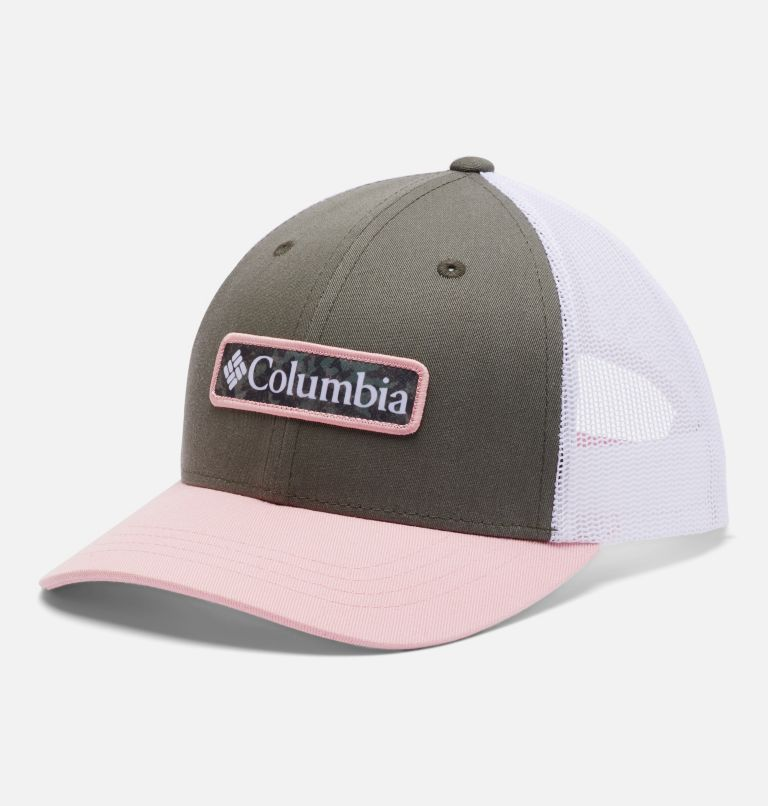 Columbia Youth™ Snap Back Hat | 398 | O/S Youth Columbia™ Snap Back Cap, Stone Green, Faux Pink, front