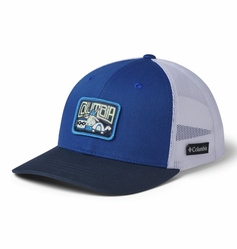 Columbia Youth™ Snap Back Hat | 437 | O/S Casquette Snapback Junior, Azul, White, Coll Navy, Camp Creatures, front