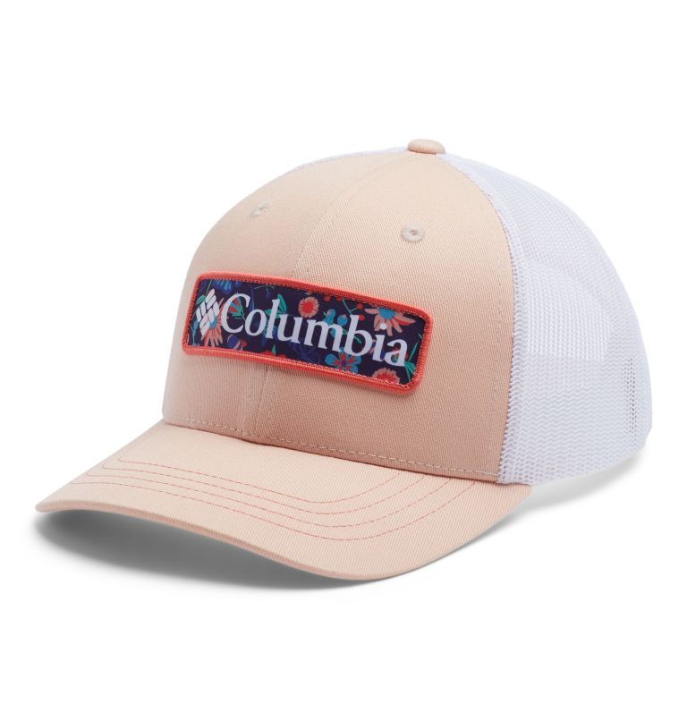 Columbia Youth™ Snap Back Hat   870   O/S Youth Columbia™ Snap Back Cap, Peach Cloud, Flower Columbia, front