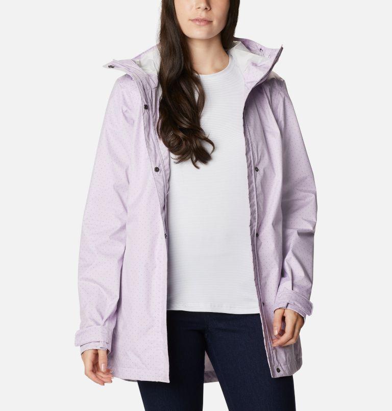 Splash A Little™ II Jacket | 584 | L Women's Splash A Little™ II Jacket, Pale Lilac Spacey Dots Print, front