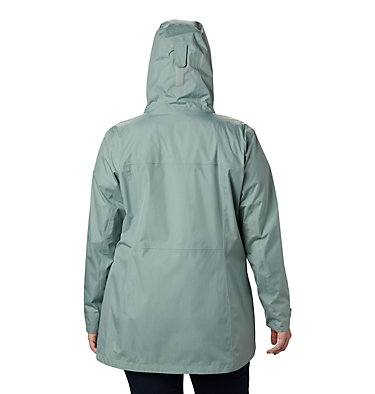 Women's Splash A Little™ II Jacket - Plus Size Splash A Little™ II Jacket | 843 | 1X, Light Lichen, back