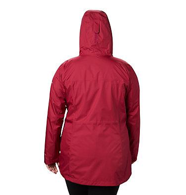 Women's Splash A Little™ II Jacket - Plus Size Splash A Little™ II Jacket | 467 | 1X, Red Orchid, back