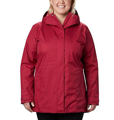 Women's Splash A Little™ II Jacket - Plus Size Splash A Little™ II Jacket | 467 | 1X, Red Orchid, front