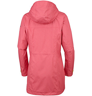 Women's Splash A Little™ II Jacket Splash A Little™ II Jacket | 633 | S, Red Coral Mini Hex Print, back