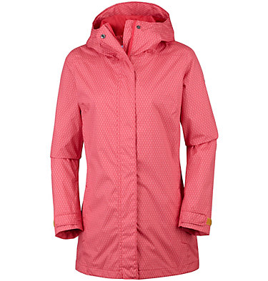 Women's Splash A Little™ II Jacket Splash A Little™ II Jacket | 633 | S, Red Coral Mini Hex Print, front