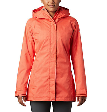 Women's Splash A Little™ II Jacket Splash A Little™ II Jacket | 633 | S, Bold Orange Titch Diamond Print, front