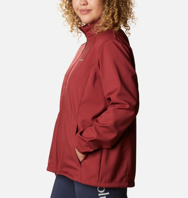Kruser Ridge™ II Softshell | 619 | 1X Women's Kruser Ridge™ II Softshell - Plus Size, Marsala Red, a1