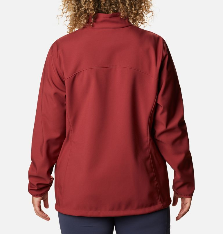 Kruser Ridge™ II Softshell | 619 | 3X Women's Kruser Ridge™ II Softshell - Plus Size, Marsala Red, back