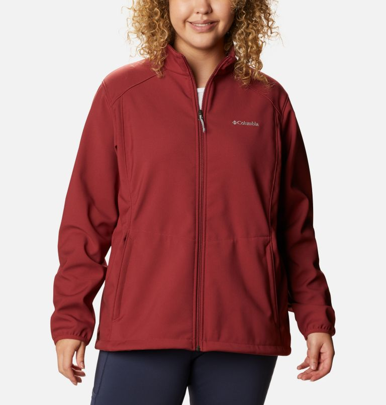 Kruser Ridge™ II Softshell | 619 | 3X Women's Kruser Ridge™ II Softshell - Plus Size, Marsala Red, front