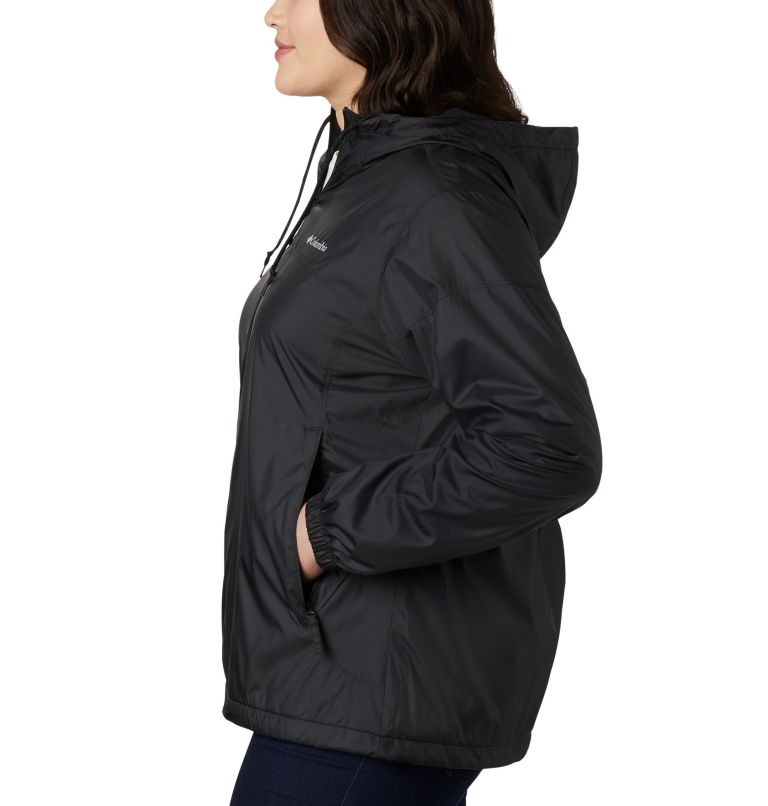 Flash Forward™ Lined Windbreaker | 010 | 3X Women's Flash Forward™ Lined Windbreaker - Plus Size, Black, a1