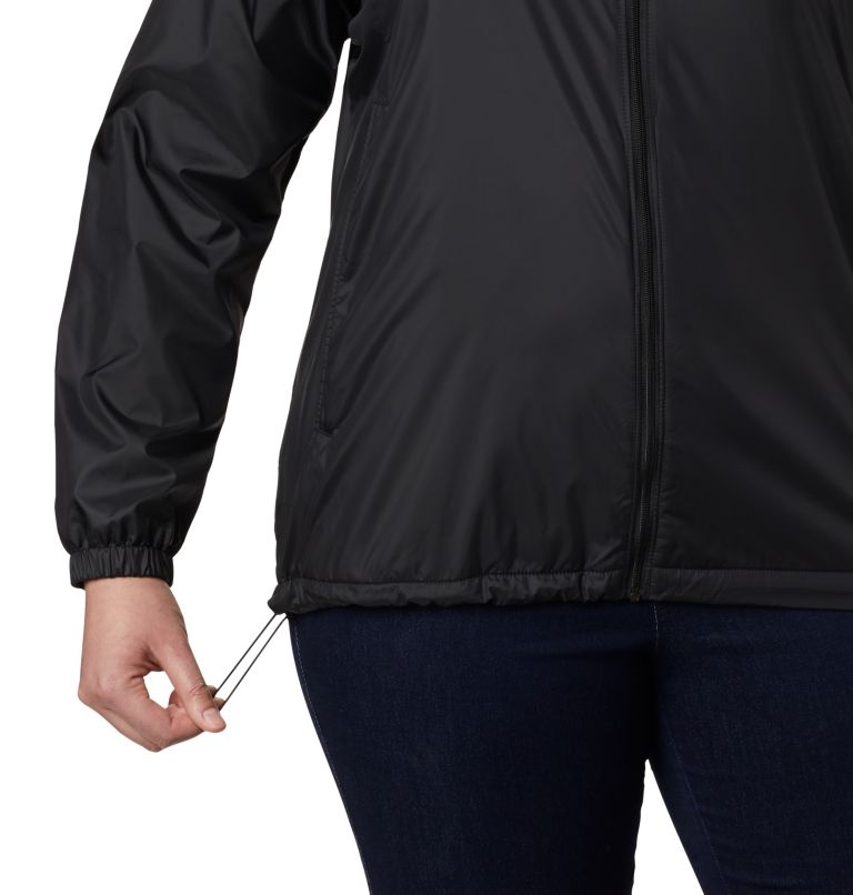 Flash Forward™ Lined Windbreaker | 010 | 3X Women's Flash Forward™ Lined Windbreaker - Plus Size, Black, a2