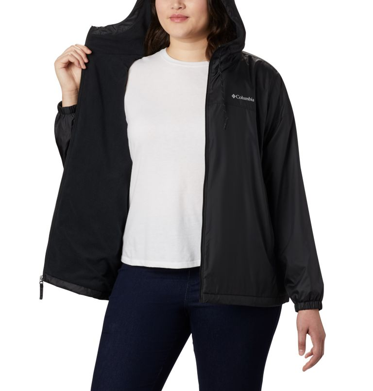 Flash Forward™ Lined Windbreaker | 010 | 3X Women's Flash Forward™ Lined Windbreaker - Plus Size, Black, a3