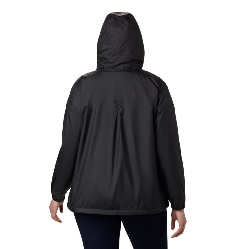 Flash Forward™ Lined Windbreaker | 010 | 3X Women's Flash Forward™ Lined Windbreaker - Plus Size, Black, back