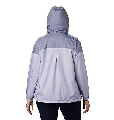 Women's Flash Forward™ Lined Windbreaker - Plus Size Flash Forward™ Lined Windbreaker | 581 | 2X, Twilight, New Moon, back