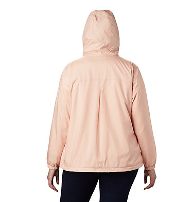 Women's Flash Forward™ Lined Windbreaker - Plus Size Flash Forward™ Lined Windbreaker | 581 | 2X, Peach Cloud, back