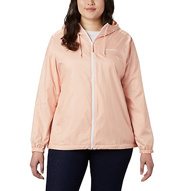 Women's Flash Forward™ Lined Windbreaker - Plus Size Flash Forward™ Lined Windbreaker | 581 | 2X, Peach Cloud, front