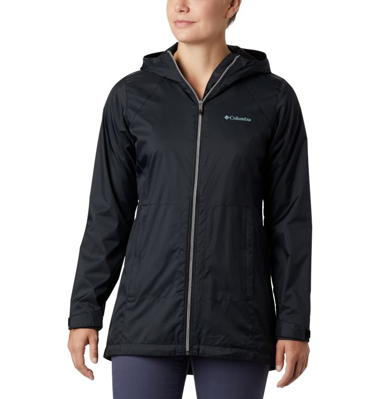 Switchback™ Lined Long Jacket | 010 | XS Women's Switchback™ Lined Long Jacket, Black, front