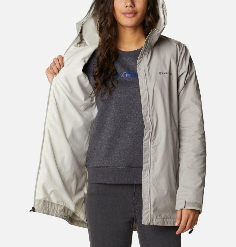 Switchback™ Lined Long Jacket | 027 | L Women's Switchback™ Lined Long Jacket, Flint Grey, Chalk Lining, a3