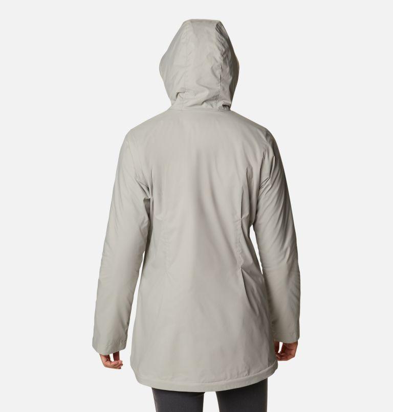 Switchback™ Lined Long Jacket | 027 | L Women's Switchback™ Lined Long Jacket, Flint Grey, Chalk Lining, back