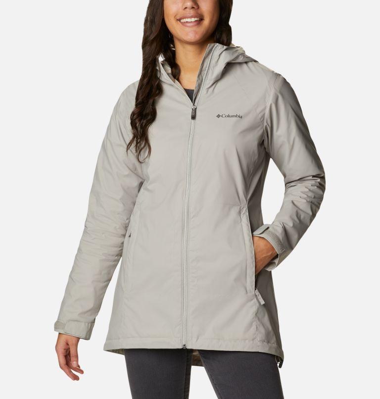 Switchback™ Lined Long Jacket | 027 | L Women's Switchback™ Lined Long Jacket, Flint Grey, Chalk Lining, front