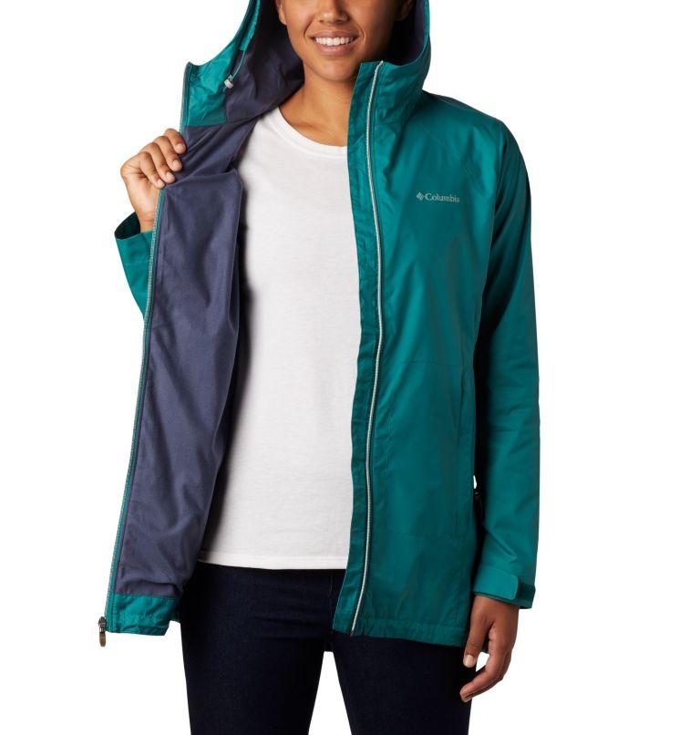 Switchback™ Lined Long Jacket   340   XS Women's Switchback™ Lined Long Jacket, Waterfall, Nocturnal Lining, a3