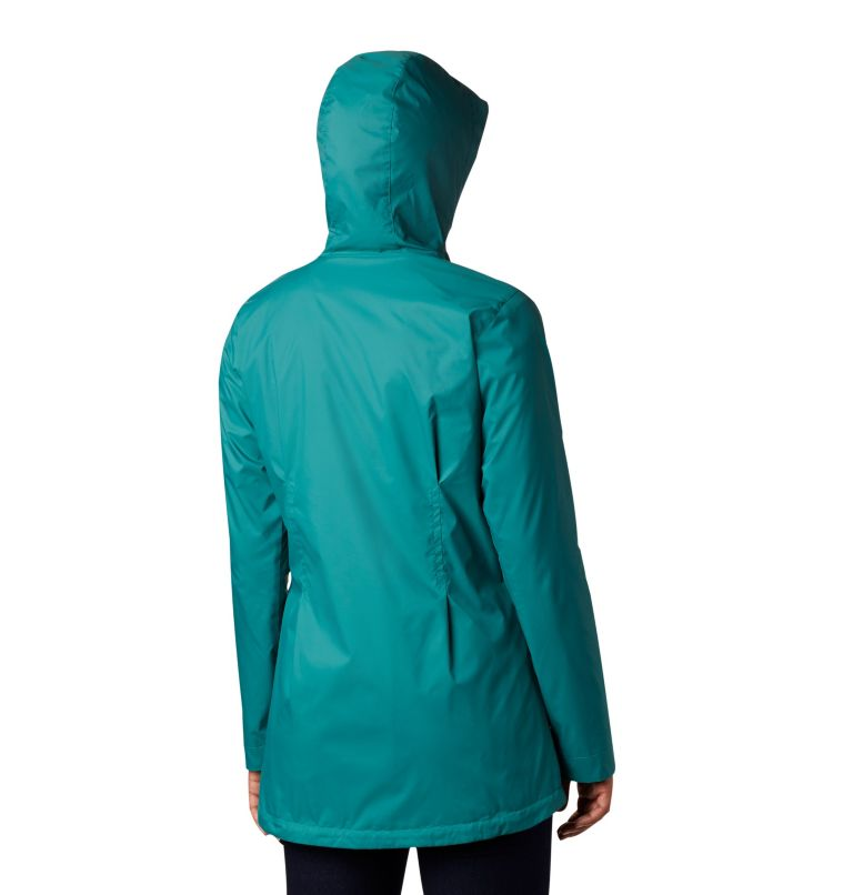 Switchback™ Lined Long Jacket   340   XS Women's Switchback™ Lined Long Jacket, Waterfall, Nocturnal Lining, back