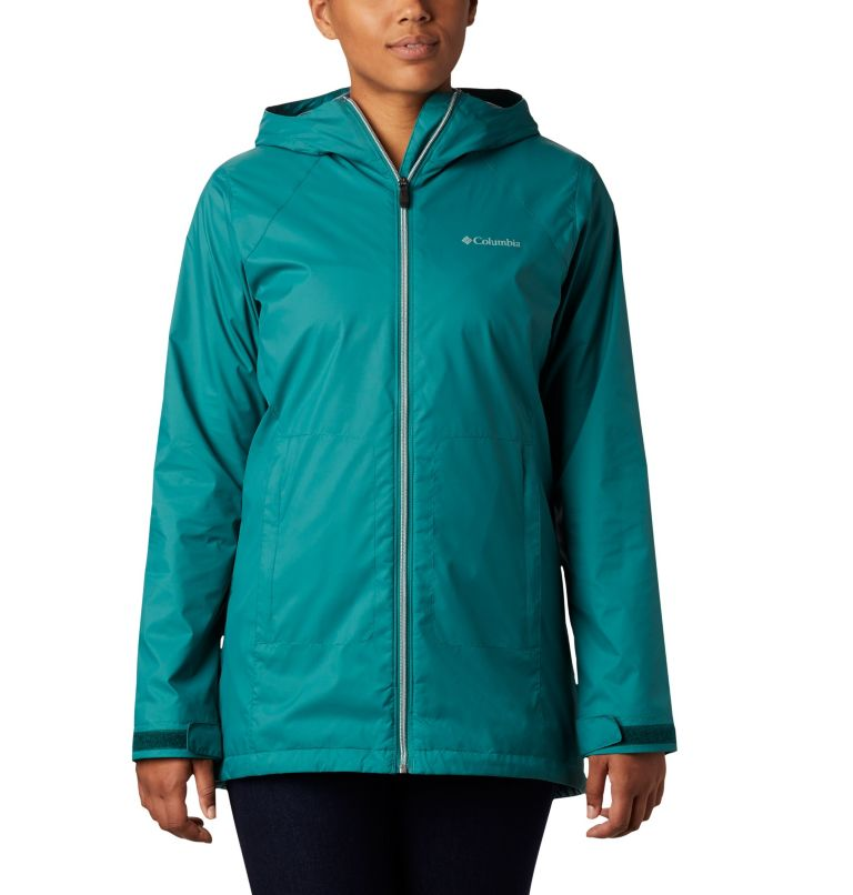 Switchback™ Lined Long Jacket   340   XS Women's Switchback™ Lined Long Jacket, Waterfall, Nocturnal Lining, front
