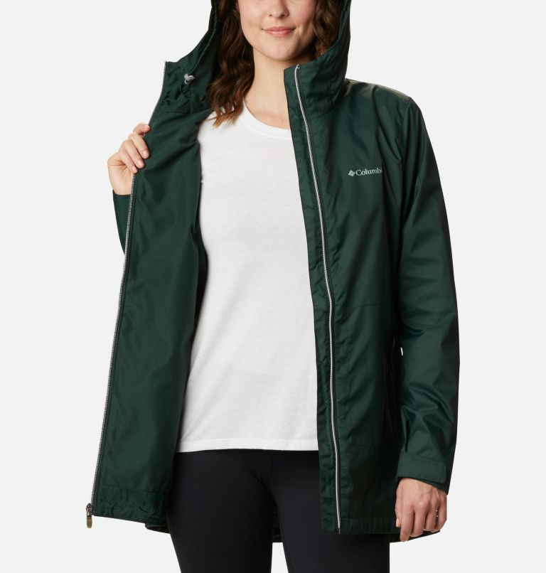 Switchback™ Lined Long Jacket | 370 | M Women's Switchback™ Lined Long Jacket, Spruce, a3