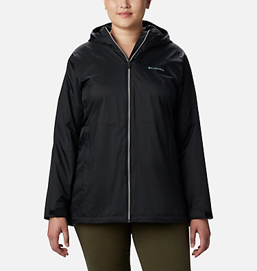 Women's Switchback™ Lined Long Jacket - Plus Size Switchback™ Lined Long Jacket | 671 | 2X, Black, front