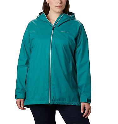 Veste longue doublée Switchback™ pour femme - Grandes tailles Switchback™ Lined Long Jacket | 556 | 2X, Waterfall, Nocturnal Lining, front