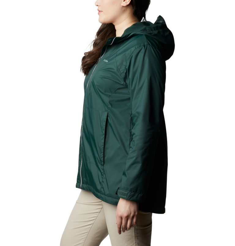 Switchback™ Lined Long Jacket | 370 | 3X Women's Switchback™ Lined Long Jacket - Plus Size, Spruce, a1