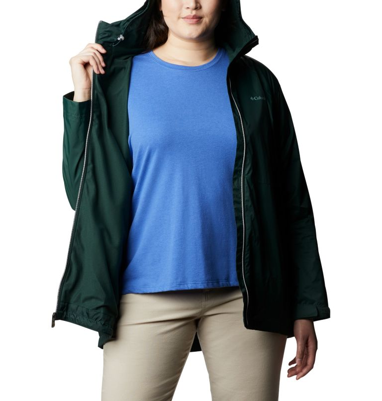 Switchback™ Lined Long Jacket | 370 | 3X Women's Switchback™ Lined Long Jacket - Plus Size, Spruce, a3
