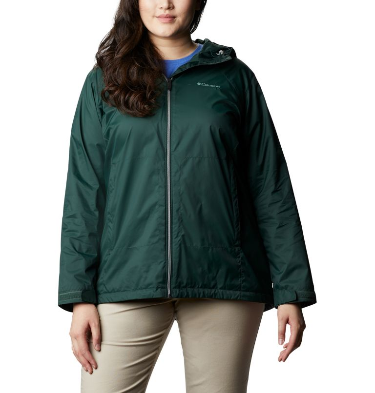 Switchback™ Lined Long Jacket | 370 | 3X Women's Switchback™ Lined Long Jacket - Plus Size, Spruce, front
